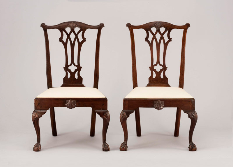 Side chairs, Philadelphia, PA, ca. 1765 and 20th century. Mahogany and  white pine. Colonial Williamsbug Foundation purchase, 1939. - ADAF — Individual Lectures