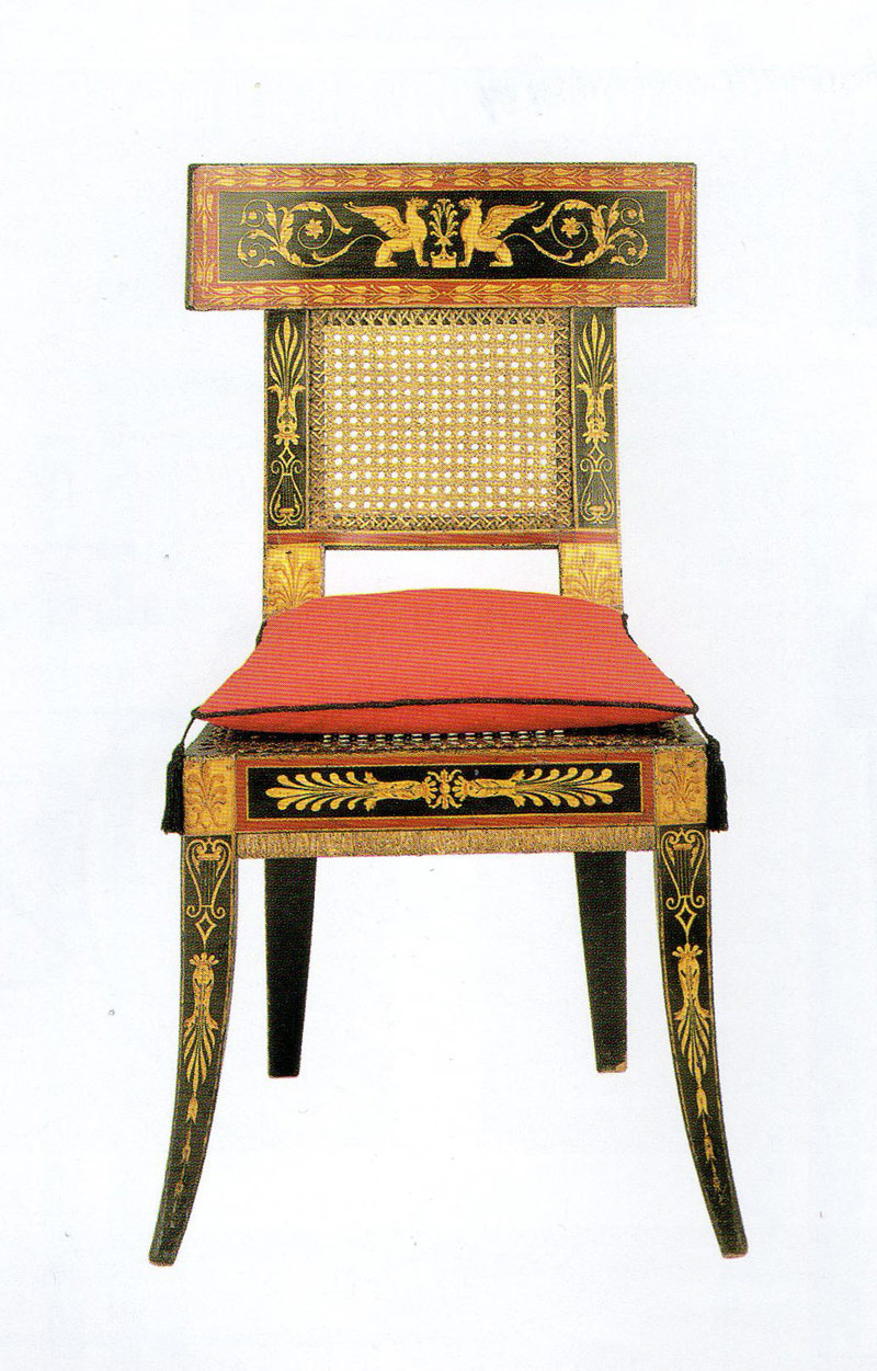 Klismos Style Chair Designed By Latrobe For The Waln House, Philadelphia ( House Demolished; Chair In Philadelphia Museum Of Art), C. 1808