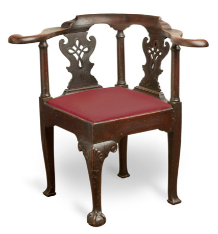 Corner or smoking chair, by Robert Walker, King George County, Virginia,  ca. 1745 - ADAF — Individual Lectures